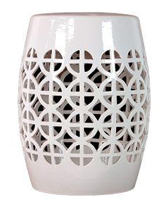 Very pretty Modern Lattice Ceramic Garden Stool.  Free shipping