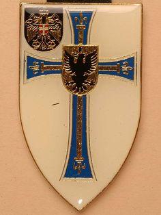 Truppenabzeichen - Jäger-Bataillon 1 Hoch- und Deutschmeister Military Art, Porsche Logo, Hungary, Austria, Switzerland, Armour, Vienna, Badge, Crests