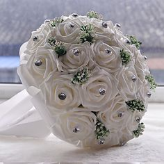 Bride Holding Flowers Wedding Bouquet 3929695 2016 – $29.99