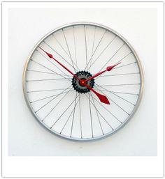 Recycled BikeWheel Clock by Pixel This