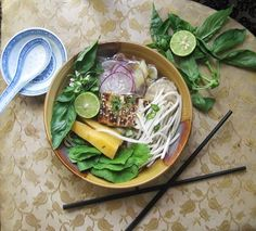 Vegan Pho - Deliciously rich and healthy vegan version of the famous Vietnamese soup