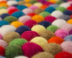 Have you been dreaming of a beautiful felt ball rug? We would be more than happy to create the custom rectangle felt ball rug of your dreams. Just select the color (or colors) you desire. Blue Carpet, Diy Carpet, Rugs On Carpet, Carpet Ideas, Stone Rug, Felt Ball Rug, Cost Of Carpet, Wie Macht Man, Cheap Carpet Runners