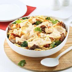 On cuisine nos restes de viande à fondue en 20 recettes - Pratico-Pratiques Pasta Salad, Beef Recipes, Risotto, Potato Salad, Cauliflower, Food And Drink, Pizza, Menu, Favorite Recipes