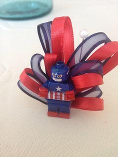 Captain America Boutonniere Wedding Avengers Superhero Comic