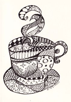 Watercolor Wendy: Cafe Latte Zen Tangle