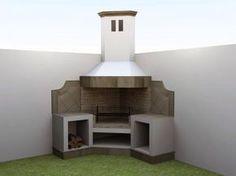 asador en esquina - Buscar con Google Barbecue Area, Bbq Grill, Outdoor Gardens, Small Gardens, Rancho, Backyard Projects, Home Projects, Pergola, Garden Design
