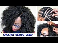 rubber band method on short natural hair Extension:Expression braids ...