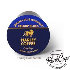 Marley Coffee Talkin Blues Coffee 100 Jamaica Blue Mountain Single Serve RealCup for Keurig Kcup Brewers 96 count box * Check this awesome product by going to the link at the image. (This is an affiliate link) Cheap Coffee Machines, Blue Mountain Coffee, Green Mountain, Marley Coffee, Wholesale Coffee, Coffee Maker Reviews, Grocery Deals, Blues, Fresh Roasted Coffee