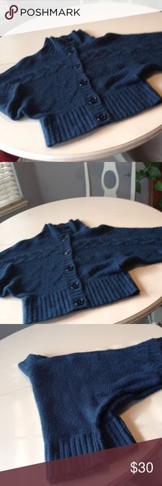 Teal cable sweater with buttons😍😘 Adorable, cozy, casual, and super warm big buttoned sweater with shorter wide arms.  A timeless classic in teal. It\' Our Time Sweaters