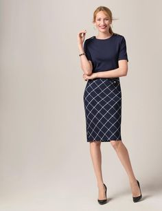 Preppy Grid Pencil Skirt | Women's Skirts | THE LIMITED