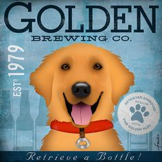 """Golden Retriever Brewing Company"" graphic"