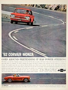 This is an original 1962 color print ad for the '62 Chevrolet Corvair Monza cars. CONDITION This 50+ year old Item is rated Very Fine +++. Light aging in margins. No creases. No natural defects. No su