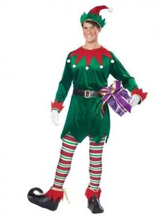 Christmas Elf Adult Costume | California Costumes