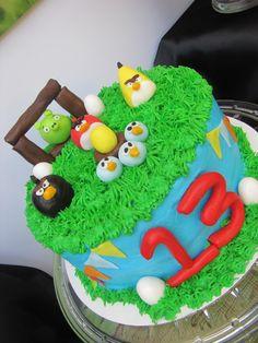 "Photo 18 of 19: Angry Birds / Birthday ""The blue angry bird says WEEEEEE.... Mathews turning 13"""