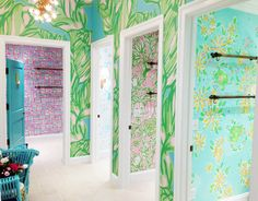 Lilly Pulitzer Dressing Rooms at Montgomery Mall in Bethesda
