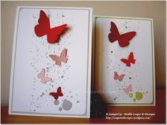 Léger et coloré comme...Acte 2 - Butterflies Card - Embosslits - Stampin'Up Independant Demonstrator - Val CoupesetDecoupes -https://coupesetdecoupes.wordpress.com