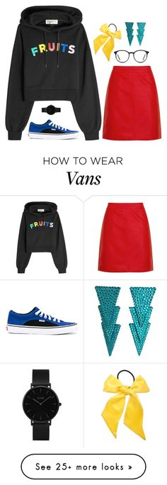"""Untitled #431"" by wallflowerdarling on Polyvore featuring Vans, Être Cécile, Topshop, CLUSE and L. Erickson"
