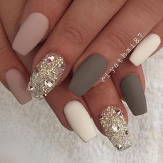 30 beautiful diamond nail art designs & Diamond nails inspiration The post 30 beautiful diamond nail art designs Diamond Nail Designs, Diamond Nail Art, Matte Nail Designs, Nails Design With Diamonds, Diamond Rings, Best Nail Designs, Coffin Nail Designs, Crazy Nail Designs, Fall Nail Art Designs