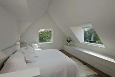Schlafzimmer Cozy attic loft bedroom design & decor ideas Breathe Life into your old vanity Artic Attic Loft, Loft Room, Bedroom Loft, Home Bedroom, Attic Office, Bedroom Modern, Bedroom Decor, Dream Bedroom, Eaves Bedroom