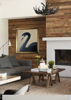 wall treatment for fireplace wall