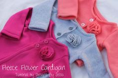 Flower Fleece Cardigan - Sewing Tutorial DIY