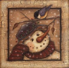 Snowman I Fine-Art Print by Kim Lewis at FulcrumGallery.com