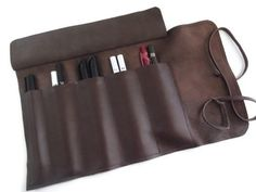 Leather PenCase Leather Pencil CaseBrown Soft Napa by feltapp, $35.00