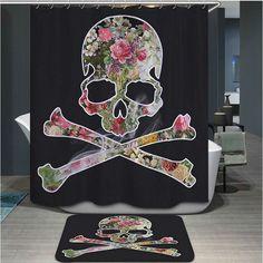 Custom Skull Bathing Room Shower Curtain