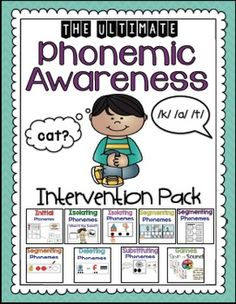 This is the ultimate pack for phonemic awareness! This set includes activities for you to use during small group instruction. Set your students are the right path for reading success. Phonemic awareness instruction comes before phonics instruction!Included in this pack:~Initial Sounds~Isolating Sounds (first or final sounds)~Isolating Sounds 2 (Determining which sound is different with two pictures)~Segmenting Phonemes: 3 different activities~Substituting Phonemes~Deleting Phonemes~Two games…