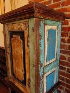 cabinet made from variety of old doors. Repined from Kerry. OH YES, THAT'S WHAT I'm TALKING ABOUT!!!!! LOVE IT!!!!!