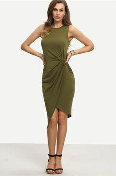 Sleeveless Knot Sheath Dress. Abito AsimmetricoAbiti ... 89c32808d94