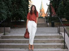Summer white pants from Columbine Smille