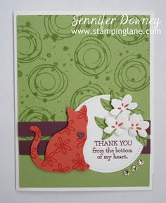 Cat punch, Swirly Bird, Belaa and Friends, Colorful Seasons, Stamping Up