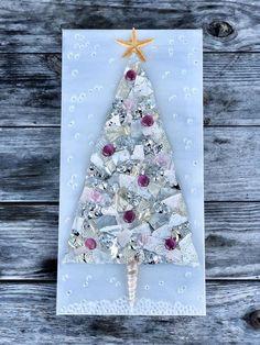 Silver Christmas Tree, Handmade Christmas Tree, Broken Glass Art, Shattered Glass, Purple Turtle, Glass Pumpkins, Crushed Glass, Recycled Glass, Resin Art