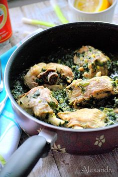 ''Fricassee'' : Greek Lamb Fricassee with greens Greek Recipes, Meat Recipes, Cooking Recipes, Healthy Drinks, Healthy Tips, Eat Happy, Lamb Dishes, Greek Cooking, Group Meals