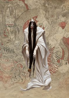 The awesome fantasy illustrations of Adrian Smith, a freelance illustrator, concept designer and comic book artist based in Edinburgh. Dark Fantasy Art, Fantasy Artwork, Fantasy Character Design, Character Design Inspiration, Character Art, Japanese Horror, Japanese Art, Arte Horror, Horror Art