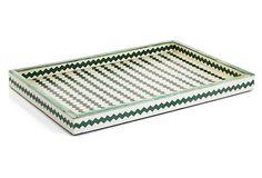 Green Dyed Bone Tray, 13x19 on OneKingsLane.com