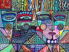 Sandra  Silberzweig ~ Fractal Tree of Life Angels ~