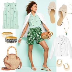 Think exotic prints as your passport to paradise. Fun to wear. Easy to pair. | Talbots Summer Outfits