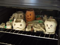 Photophore en pâte à sel d'halloween - Brico-line