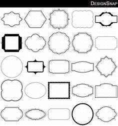 Digital Frames Clip Art, Frames Clipart, Classic frames, Scrapbooking Frames, Basic Frames, Digital download, Clipart Frames, Card Frames  - 1 Zip