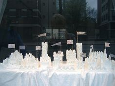 Maybe make them into a mountain?  Sugar Cube Castle...maybe wall of Jericho??