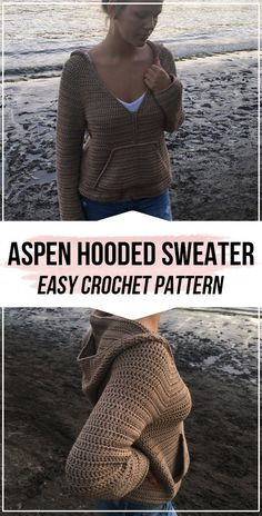 crochet Aspen Hooded Sweater pattern & easy crochet sweater pattern for beginners The Home Girl Sweater & Crochet Sweater…The Avary Sweater & Free Crochet PatternFree, Easy Crochet Sweater Pattern & A… Mode Crochet, Crochet Diy, Crochet Woman, Crochet Crafts, Crochet Tops, Crochet Ideas, Diy Crochet Clothes, Diy Crafts, Crochet Hoodie