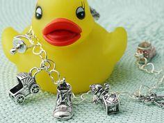 Baby Shower Charm Bracelet