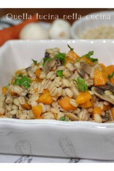 Zuppa orzo funghi e carote. Eccomi con una nuova ricetta light! #veganfood #orzo #funghi #carote
