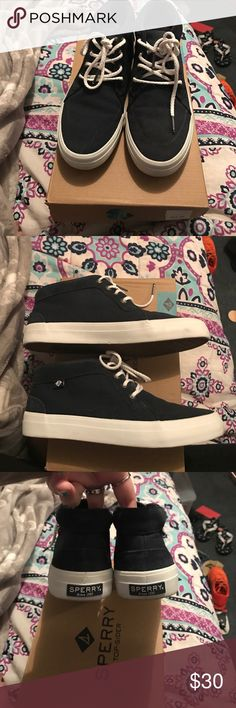 Sperrys ! High top sperrys ! Worn once , like new ! BUNDLE AND SAVE Sperry Shoes Sneakers