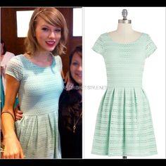 Nwot Modcloth Green Pastel Dress Aso Taylor Swift
