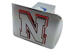 University of Nebraska METAL Auto Emblem with Red Trim Iron N