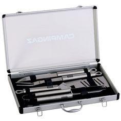Met deze handige aluminium kit van Campingaz heb je alle gereedschappen voor tijdens het barbecueën bij de hand. Het bevat veel verschillende onderdelen en wordt geleverd in een mooi koffertje. >> http://www.kampeerwereld.nl/campingaz-kit-aluminium-case/