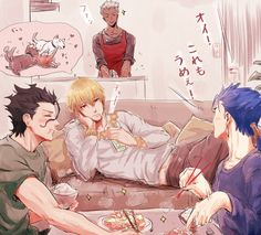 Fate/zero, Fate/stay night, Gilgamesh, Lancer (Fate/stay night), Lancer (Fate/zero)